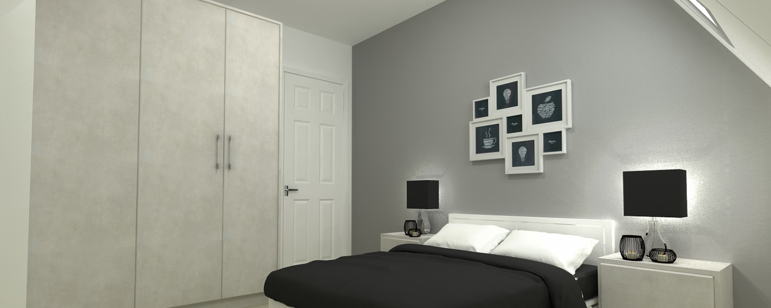 Commercial Range - Xylocleaf Penelope Flat Door Grey Bedroom