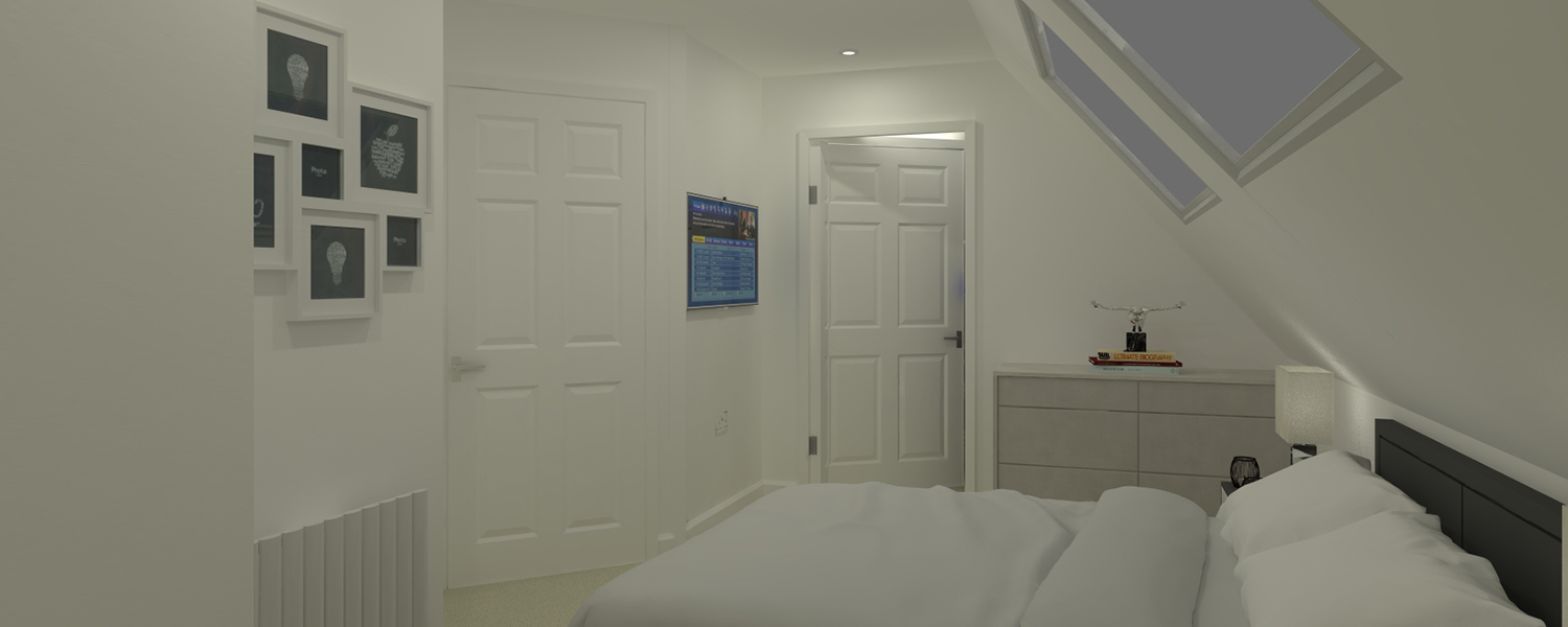 Contemporary Flat Door Grey Bedroom Medway Kent