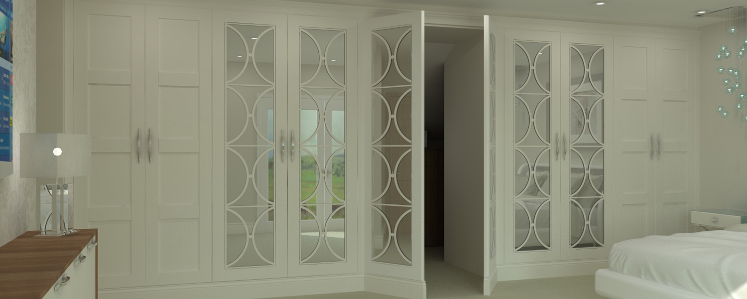 Traditional White Fretwork Shaker and Mirrored Bedroom Medway Kent